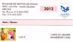 carte membre 2012